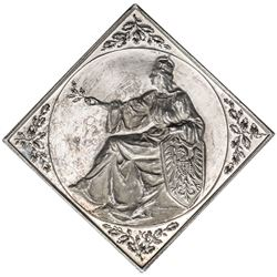 SAXONY: AR klippe medal, 1900. AU