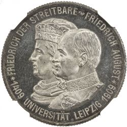 SAXONY: Friedrich August III, 1904-1918, AR 2 mark, 1909. NGC PF64