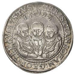SAXE-ALBERTINE LINE: Christian, Johann Georg, & August, 1591-1611, AR thaler (28.88g), Dresden, 159Z