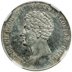 SAXE-COBURG-GOTHA: Ernst I, 1826-1844, AR 10 kreuzer, 1836. NGC MS62