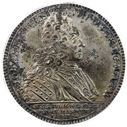 SAXE-SAALFELD: Johann Ernst VIII, 1680-1729, AR thaler, 1729. PCGS MS62
