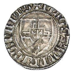 TEUTONIC ORDER: Wynrich Van Kniprode, 1351-1382, AR schilling (1.71g), Marienburg mint. VF