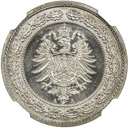 GERMANY: Kaiserreich, 20 pfennig, 1887-A. NGC MS65