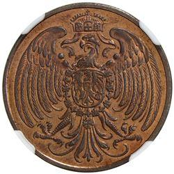 GERMANY: Kaiserreich, AE 25 pfennig, 1908. NGC PF65
