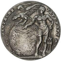 GERMANY: Weimar Republic, cast AR medal, 1924. EF