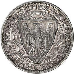GERMANY: Weimar Republic, AR 3 mark, 1927-A. PF
