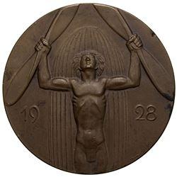 GERMANY: Weimar Republic, AE medal, 1928. EF