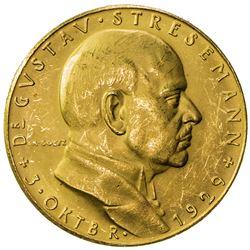 GERMANY: AV medal (4.84g), 1929. AU
