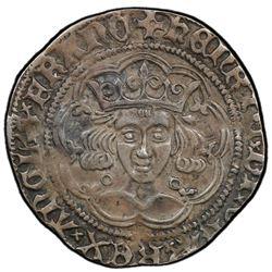 ENGLAND: Henry VI, 1422-1461, AR groat, Calais. PCGS EF40
