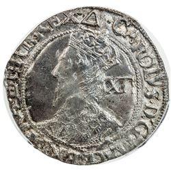 ENGLAND: Charles I, 1625-1649, AR shilling. PCGS AU55