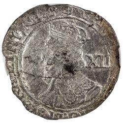 ENGLAND: Charles I, 1625-1649, AR shilling. NGC EF40