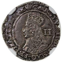 ENGLAND: Charles II, 1660-1685, AR twopence, London mint, ND. NGC AU58