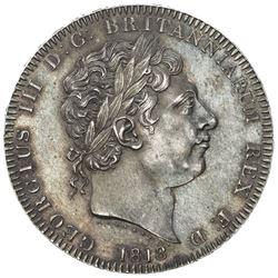 GREAT BRITAIN: George III, 1760-1820, AR crown, 1818. AU