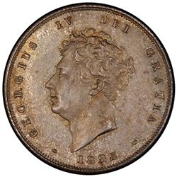GREAT BRITAIN: George IV, 1820-1830, AR shilling, 1825. PCGS MS63