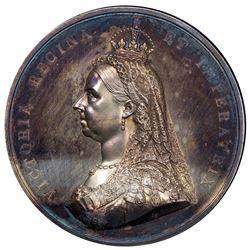 GREAT BRITAIN: Victoria, 1837-1901, AR medal, 1887. AU