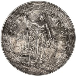 GREAT BRITAIN: Victoria, 1837-1901, AR trade dollar, 1896-B. EF