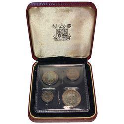 GREAT BRITAIN: Edward VII, 1901-1910, 4-coin set, 1908. UNC