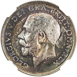 GREAT BRITAIN: George V, 1910-1936, AR shilling, 1911. NGC PF66