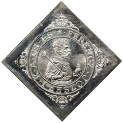 HUNGARY: Ferenc Jozsef, 1848-1916, AR thaler, 1896-KB. PF