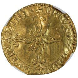 MODENA: Ercole II d'Este, 1534-1559, AV scudo del sole (3.11g). NGC VF35