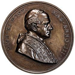 VATICAN: Pius XI, 1922-1939, AE medal, 1924. AU