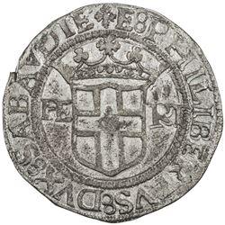 SAVOY: Emanuele Filiberto, 1553-1580, AR 4 grossi (5.61g), 1556. EF