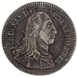 SICILY: Ferdinando III, 1759-1816, AR 30 tari (oncia), Palermo mint, 1793. NGC EF45