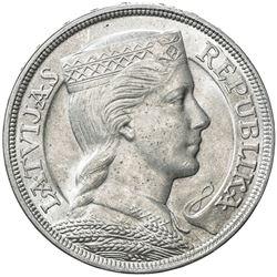 LATVIA: Republic, AR 5 lati, 1932. UNC
