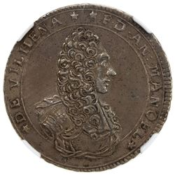 SOVEREIGN MILITARY ORDER OF MALTA: Antonio Manoel de Vilhena, 1722-1736, AR 12 tari (scudo), 1724. N