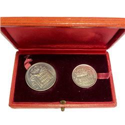 MONACO: Rainier III, 1949-2005, 2-coin set, 1960