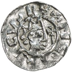FRIESLAND: Bruno III, 1038-1057, AR denar (0.81g), Leeuwerden. AU