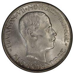 NORWAY: Haakon VII, 1905-1957, AR 50 ore, 1912. PCGS MS65