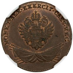 GALICIA & LUDOMERIA: Francis I, of Austria, 1792-1835, AE grosz, 1794. NGC MS63