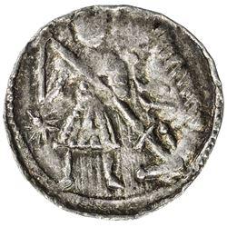 POLAND: Boleslaus III, 1107-1138, AR denar (0.52g). EF