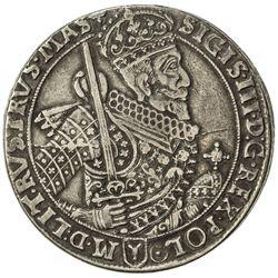 POLAND: Zygmunt III Vasa, 1589-1632, AR thaler (28.23g), 1628. VF
