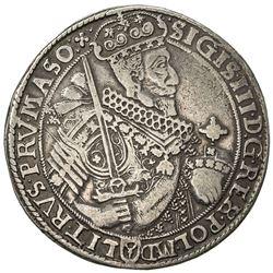 POLAND: Zygmunt III Vasa, 1589-1632, AR thaler (28.07g), 1630. VF
