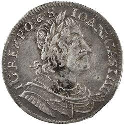 POLAND: Jan II Kazimierz Waza, 1649-1668, AR 18 groszy, 1652. VF