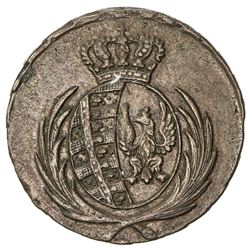 POLAND: Friedrich August I, of Saxony, 1807-1814, AE 3 grosze (8.99g), 1812. EF-AU