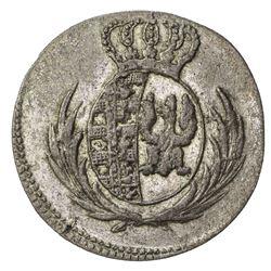 POLAND: Friedrich August I, of Saxony, 1807-1814, BI 5 groszy (1.81g), 1811. EF-AU