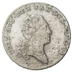 POLAND: Friedrich August I, of Saxony, 1807-1814, AR talar (22.55g), 1812. F-VF