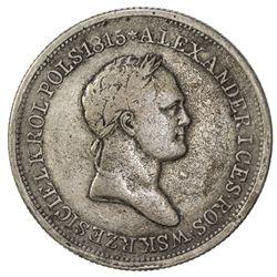 POLAND: Nicholas I, of Russia, 1825-1855, AR 2 zlote, 1830. F-VF