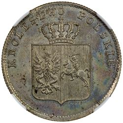 POLAND: November Uprising, 1830-1831, AR 2 zlote, Warsaw mint, 1831. NGC MS64