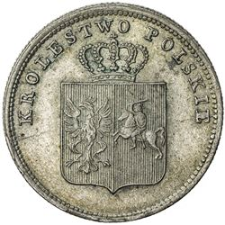 POLAND: November Uprising, 1830-1831, AR 2 zlote, 1831. EF