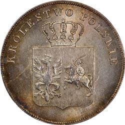 POLAND: November Uprising, 1830-1831, AR 5 zlotych, Warsaw mint, 1831. NGC MS66