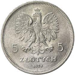 POLAND: Republic, AR 5 zlotych, 1928(w). AU