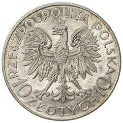 POLAND: Republic, AR 10 zlotych, 1933(w). AU