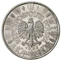 POLAND: Republic, AR 10 zlotych, 1935(w). BU