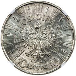 POLAND: Republic, AR 5 zlotych, 1939. NGC UNC