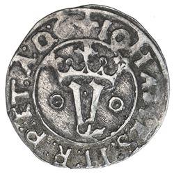 PORTUGAL: Joao II, 1481-1495, AR vintem (1.93g). VF