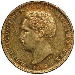 PORTUGAL: Luiz I, 1861-1889, AV 2000 reis, 1888. PCGS AU